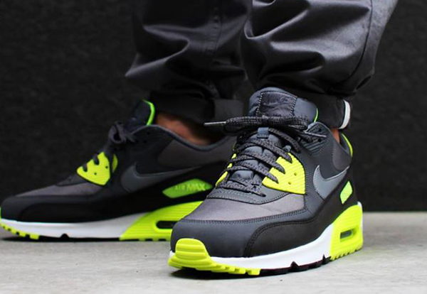 Nike Air Max 90 Essential Homme Grey/Volt