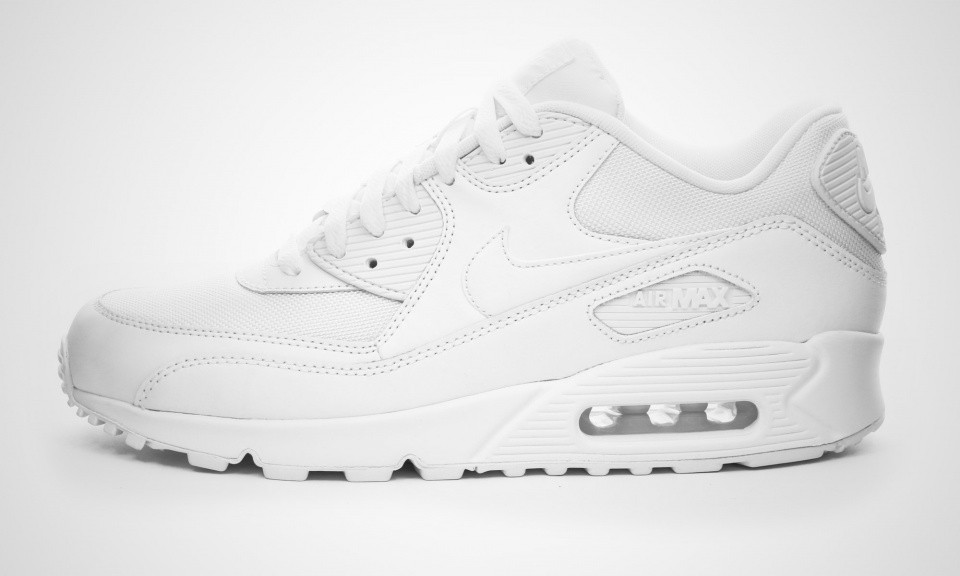 Nike Air Max 90 Essential White Chaussures De Sport Pour Homme Blanche 537384-111