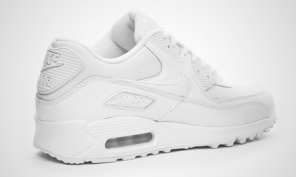 low priced 9426e eaffc ... Nike Air Max 90 Essential White Chaussures De Sport Pour Homme Blanche  537384-111 ...