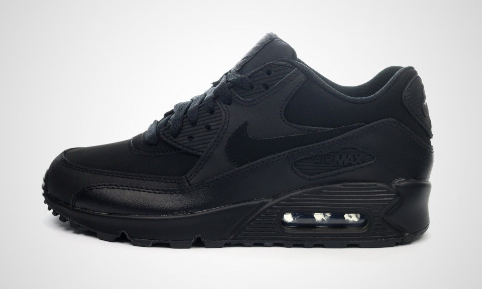 Authentique Vente Nike Air Max 90 GS Black Femme Chaussures