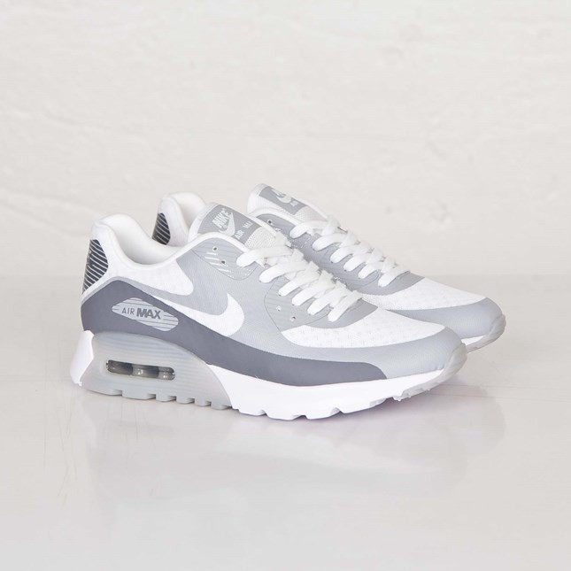 Nike Air Max 90 Ultra BR (Breathe) Femmes Trainers Blanche/Froid Gris Loup Gris 725061-101