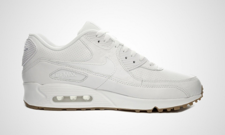 8de8ee09794 ... Nike Air Max 90 Cuir PA Ostrich and Gum Pack Homme Chaussures De Ville  Blanche  ...