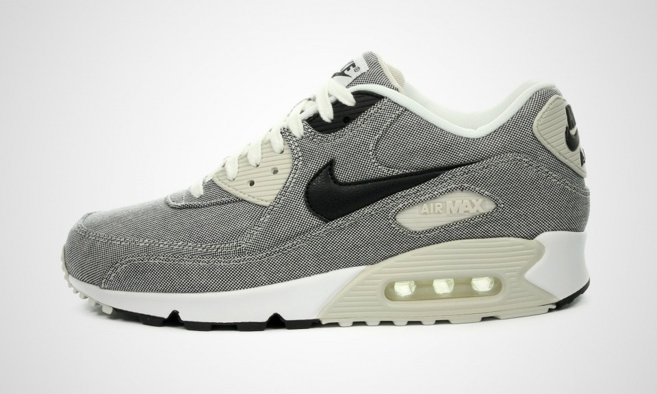Nike Air Max 90 Premium Picnic Pack Homme Sneakers Voile/Lumière Noire Os Blanche 700155-100