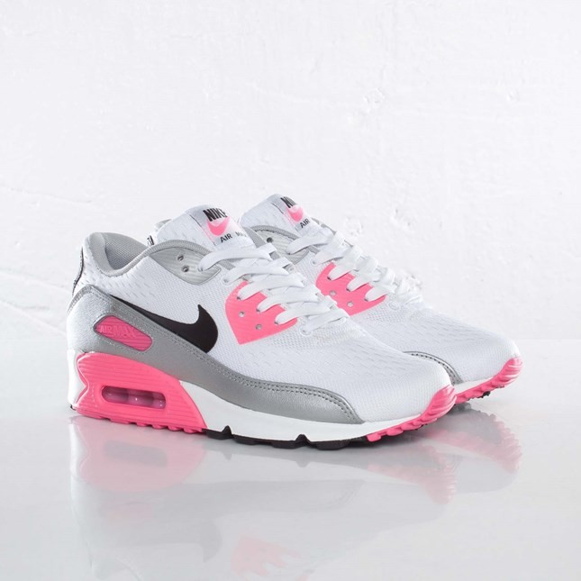 nike air max 90 print gs chaussures rose argent