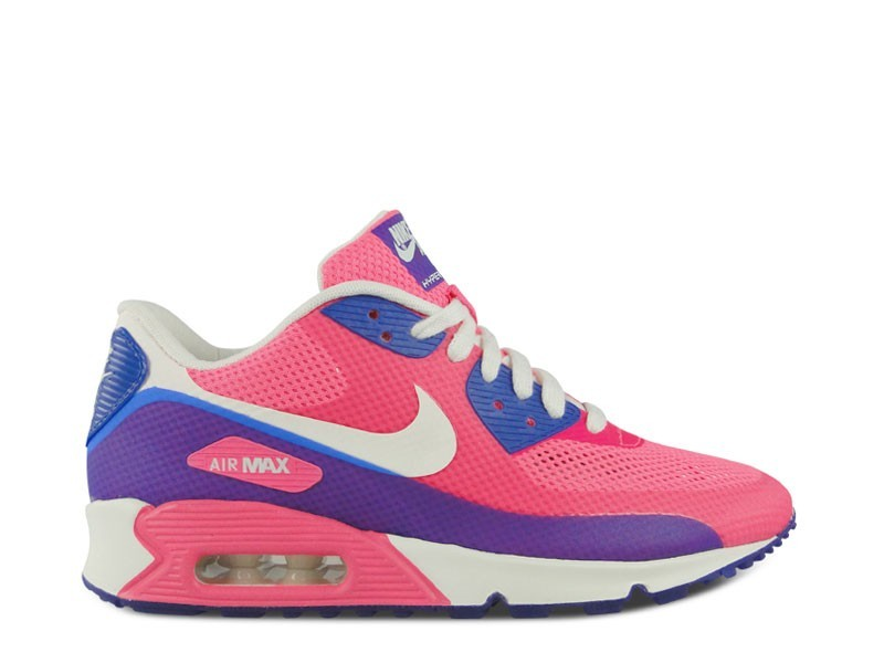 new products 5e77d 388cd Femme Nike Air Max 90 Hyperfuse Premium Sneakers Rose Éclair Voile-Éclair  Rose-