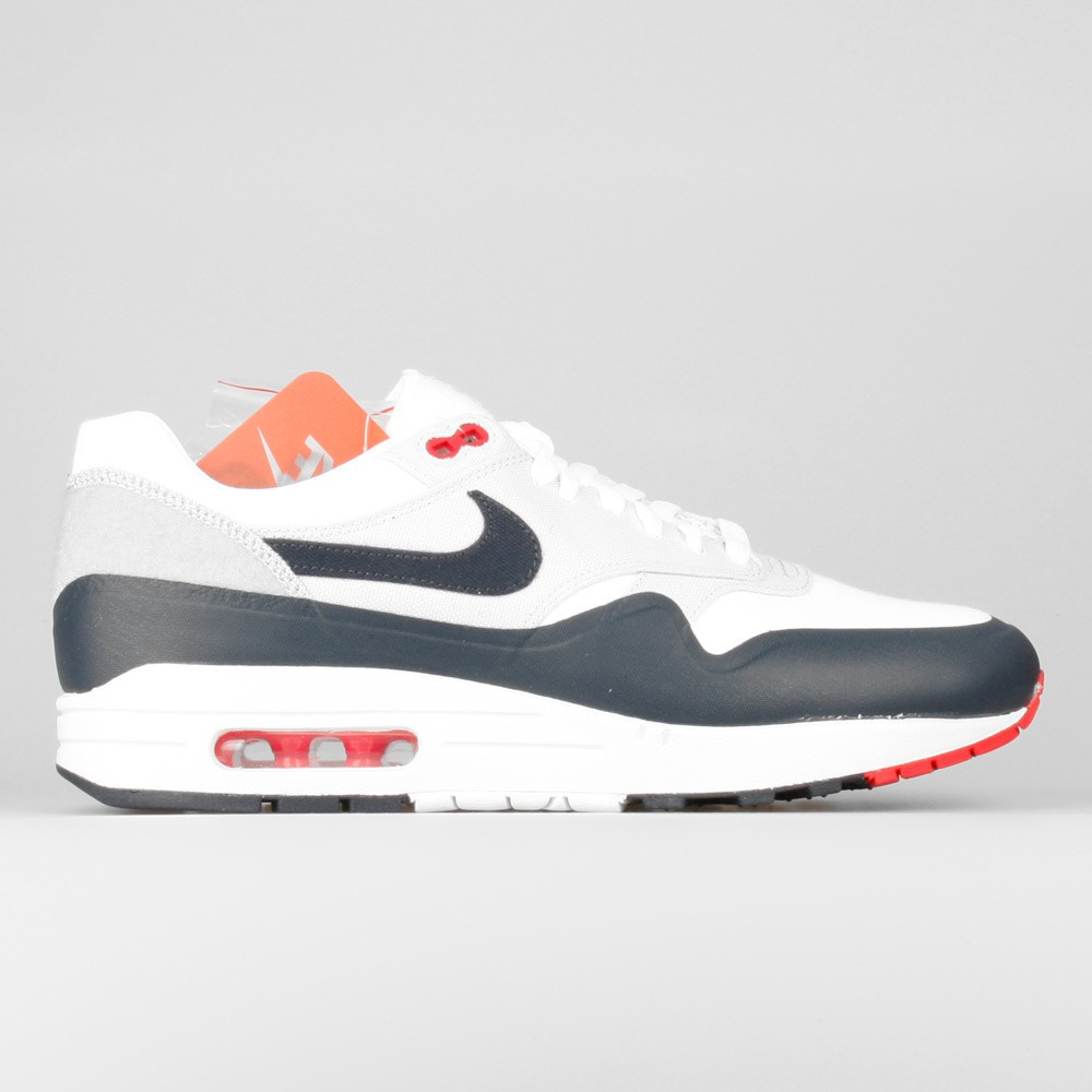 Nike Air Max 1 V SP Patch Paris OG Sneakers Pour Homme Blanche/Obsidienne Universitaire Rouge 704901-146