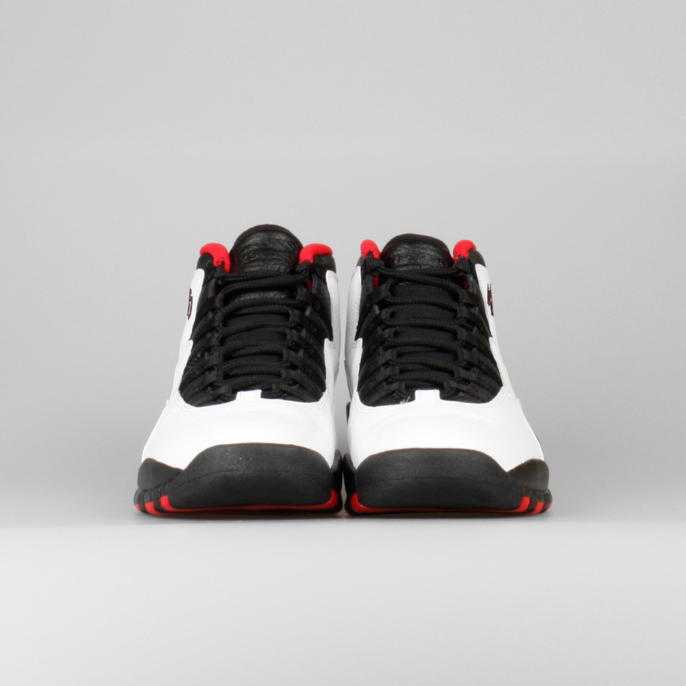 Nike Air Jordan Retro 10 Chicago 45 Double Nickel Hommes Chaussures Basket Blanche/Noir-Rouge Vrai 310805-102