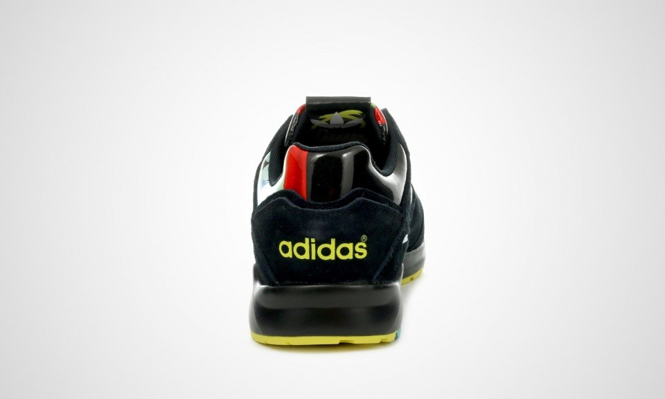 Adidas Originals Tech Super Rita Ora O-Ray Femmes Sneakers Noir Core/Jaune Vif B26724