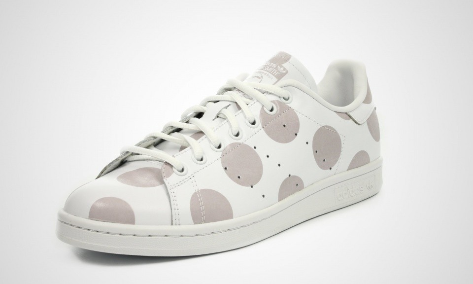 Adidas Stan Smith Polka Dots Print Hommes Chaussures Skate Courir Ftw Blanche/Courir Blanche Gris Solide Ftw/Lumière S77368
