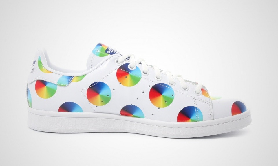 Adidas Stan Smith Polka Dots Print Multicolored CD-effect print Homme Chaussures Courir Ftw Blanche S77367