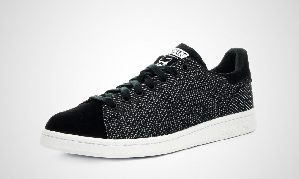 Homme Adidas Stan Smith Weave Sneakers Noir Blanc M17157