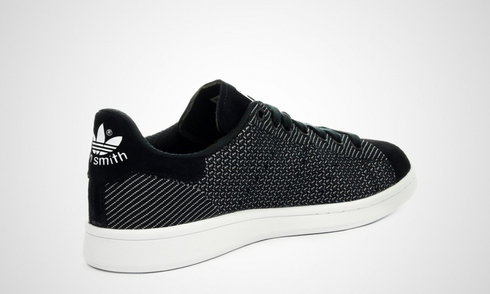 ... Homme Adidas Stan Smith Weave Sneakers Noir Blanc M17157 ...