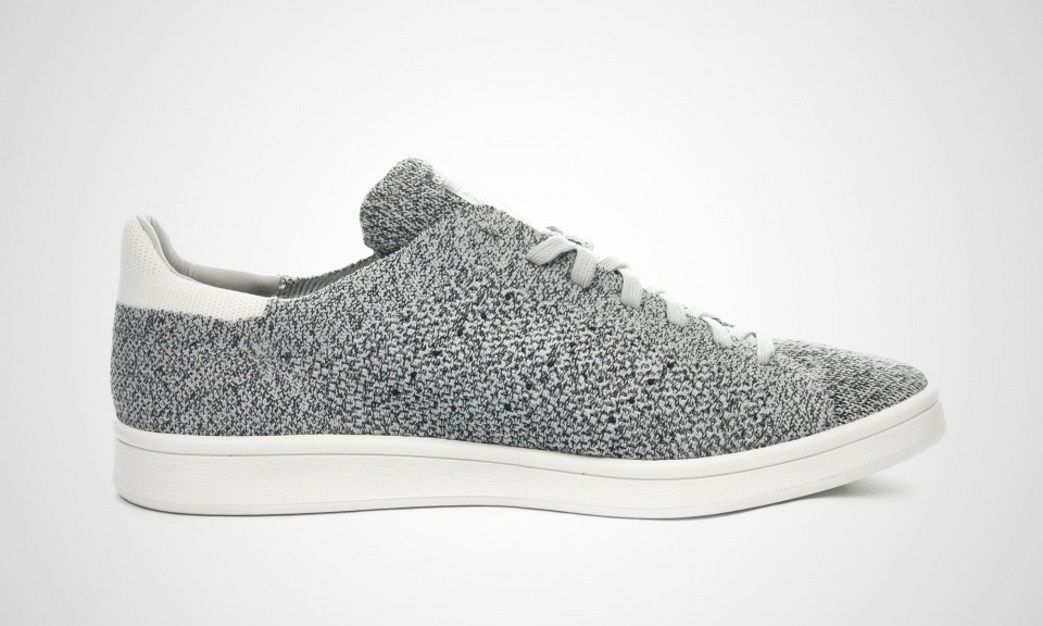 Homme Adidas Originals Stan Smith Primeknit NM Chaussures Blanche Gris B27152