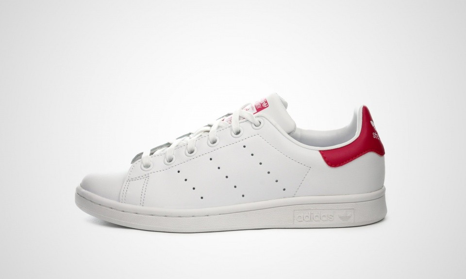 Adidas Originals Stan Smith Sneakers Juniors Blanche/Rose Audacieux B32703