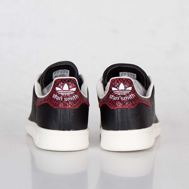 Homme Adidas Stan Smith EF W Chaussures Skate Noir/Rouge Collégiale D67851