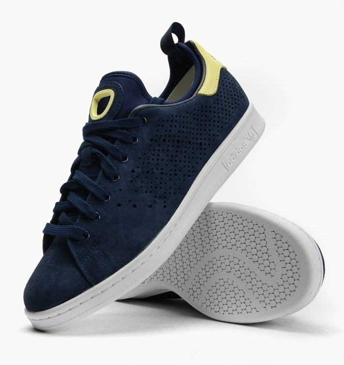 Adidas Stan Smith Updt CC Updated Homme Chaussures Marine Collégiale Bleu/Or/Blanc B25854