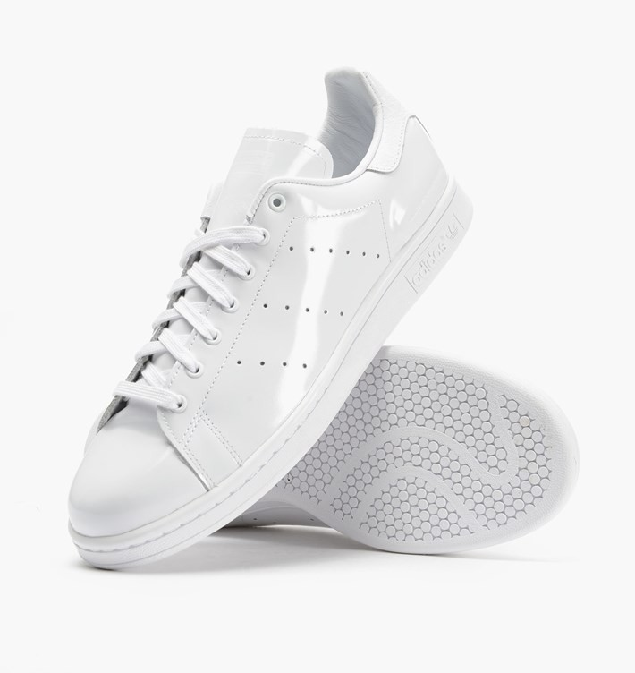 Adidas x White Mountaineering Stan Smith Patent Cuir Femme Sneakers Ftwr Blanche
