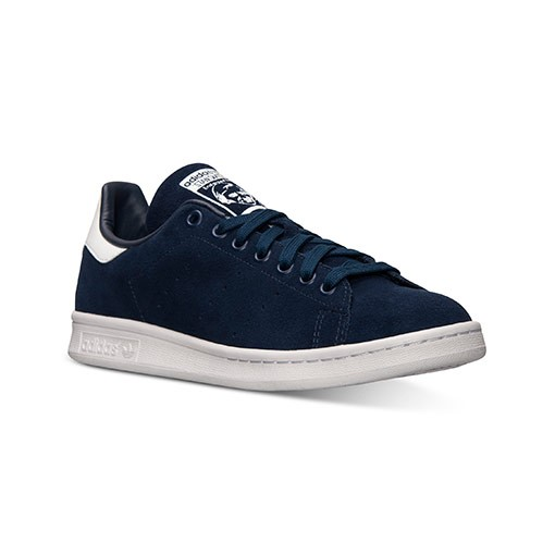 Adidas Originals Stan Smith Daim Homme Sneakers Bleu Marine/Blanc M21282