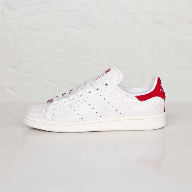 Femme Adidas Originals Stan Smith Chaussures Skate Ftwr Blanche/Rouge Collégiale M19586