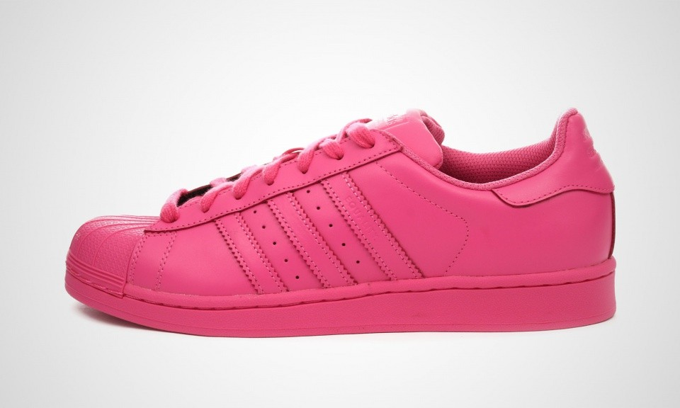 Adidas Superstar Supercolor Pack Pharell Williams Sneakers Pour Homme Rose Solaire Semi S41839