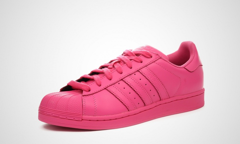 Femme Adidas Superstar Supercolor Pack Pharell Williams Chaussures Rose Solaire Semi S41839