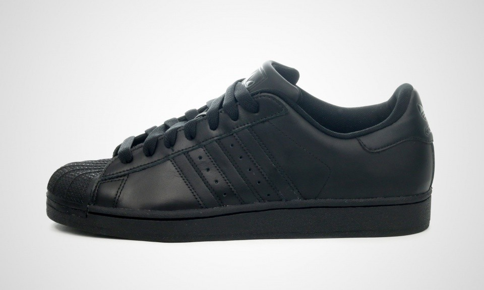Adidas Originals Superstar 2 II Triple Black Hommes Sneakers Noir G14748