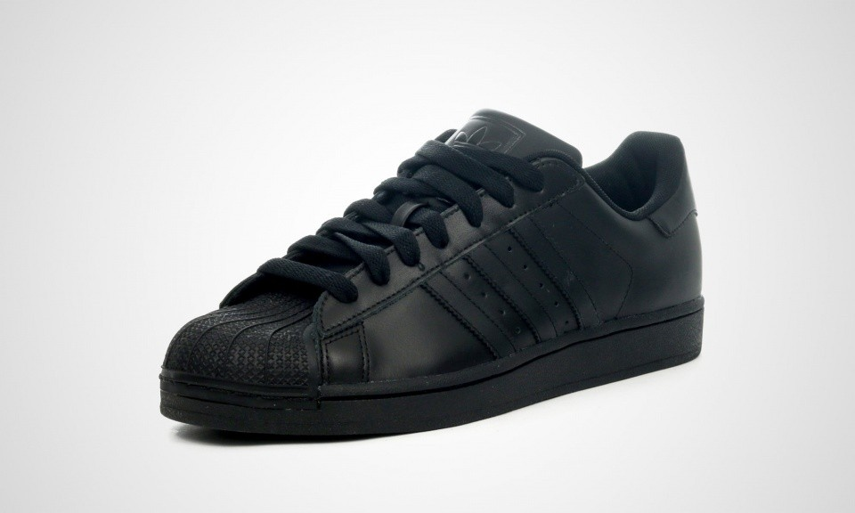 Femme Adidas Originals Superstar 2 II Triple Black Trainers Noir G14748