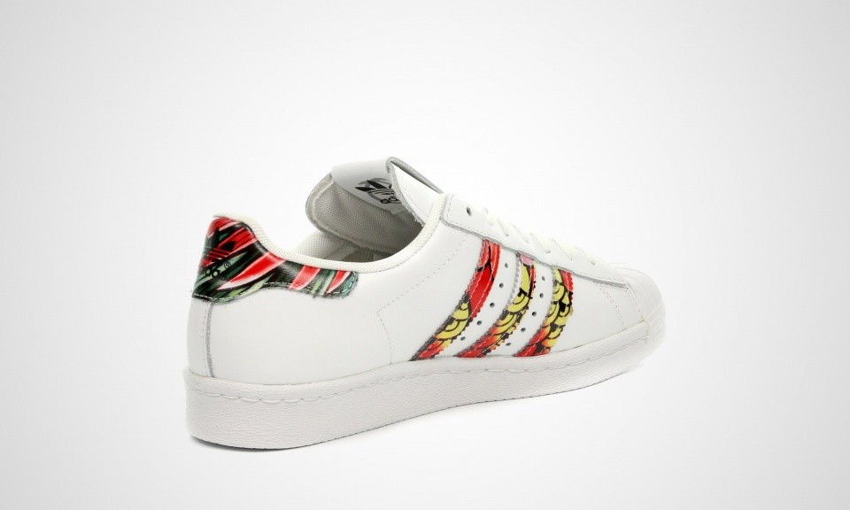 Ordre Superstar Trainers Originals Blanche Print Femmes 80s Adidas NPZknO80wX