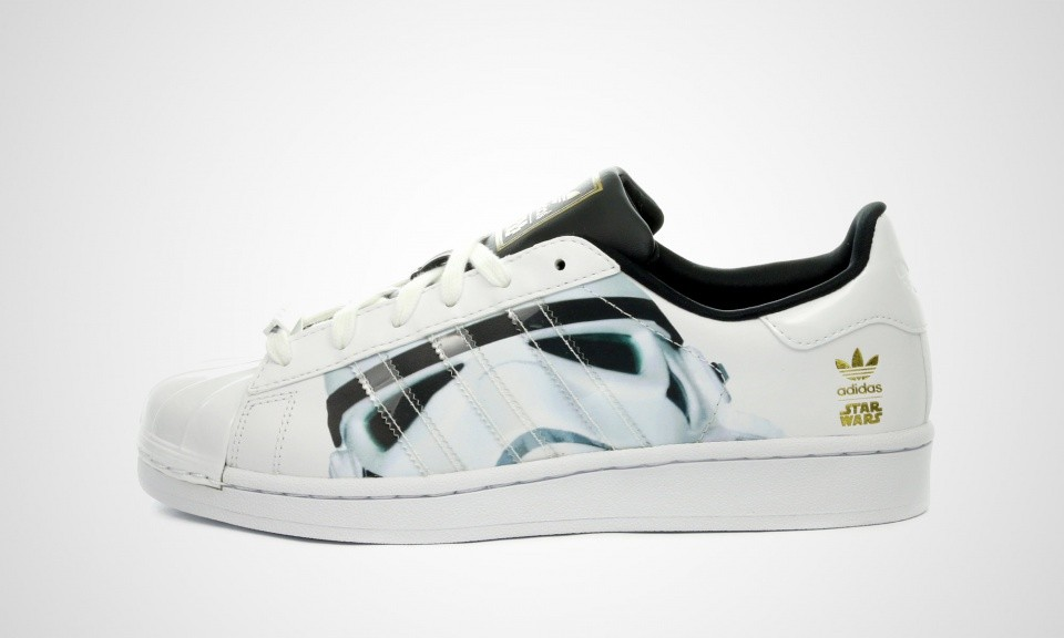 Adidas Superstar Stormtrooper x Star Wars Juniors Trainers Blanche/Noir/Or B23640
