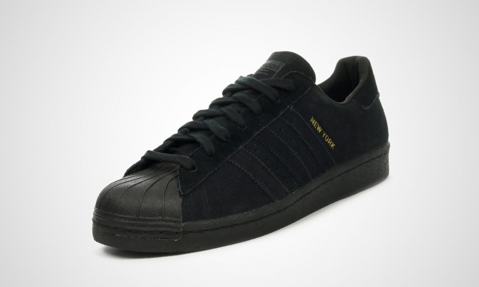 Homme Adidas Superstar 80s City Series - New York Chaussures De Sport Or Noir B32737