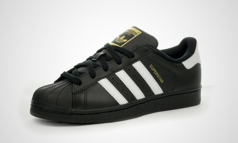 Adidas Originals Superstar Foundation Juniors Chaussures Noir Blanc B23642