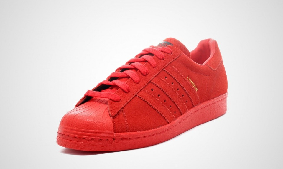 Adidas Superstar 80s City Series - London Homme Chaussures Rouge B32664