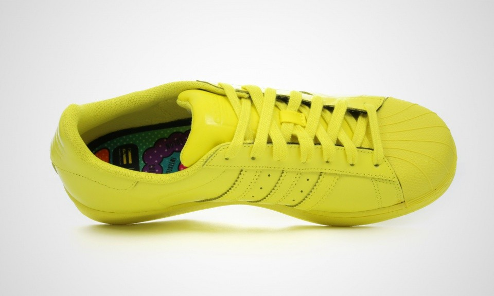 Adidas Superstar Supercolor Pack x Pharell Williams Hommes Chaussures De Ville Jaune Vif S41837