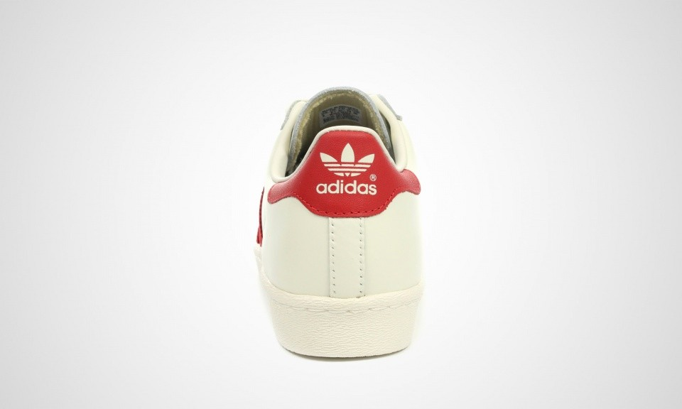 Adidas Superstar 80s DLX Deluxe Vintage Trainers Pour Homme Vintage Blanche/Rouge Écarlate B35982