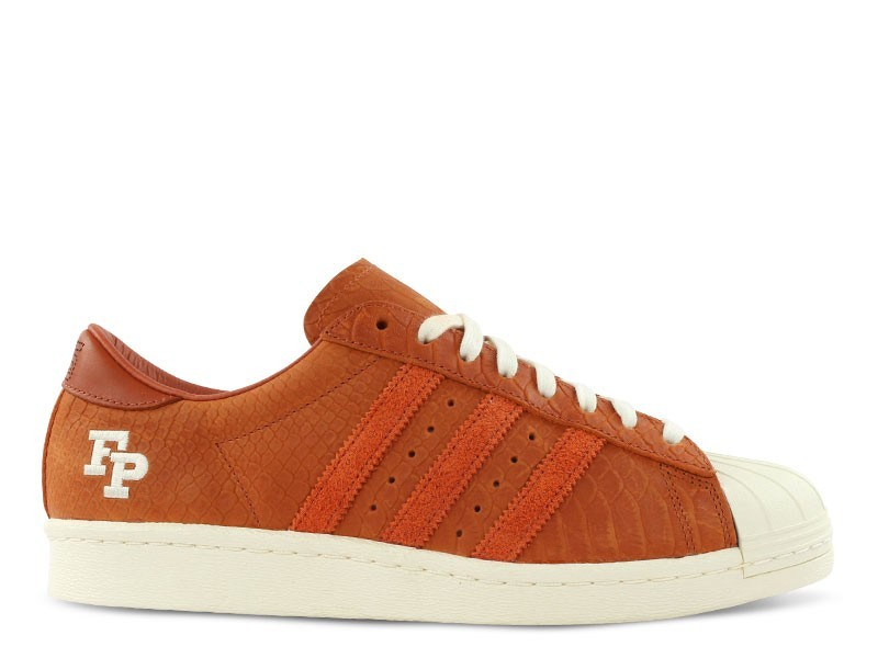 Homme Footpatrol x Adidas Consortium Superstar 80V - Fp 10Th Anniversary Sneakers Foxrouge/Core Blanche B34078