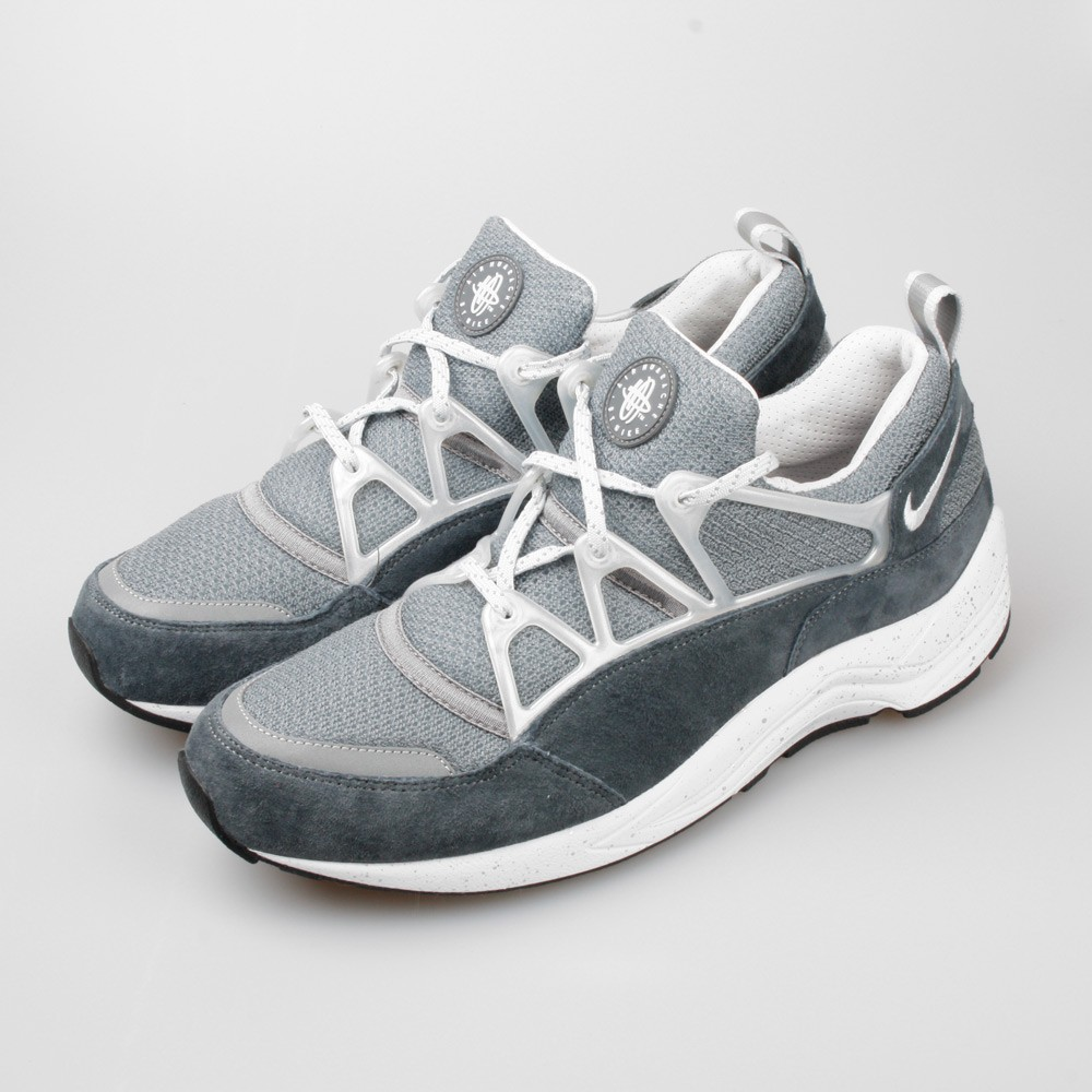 Footpatrol x Nike Air Huarache Light Concrete Hommes Sneakers Gris Clair/Platine Pur-Noir 306127-002