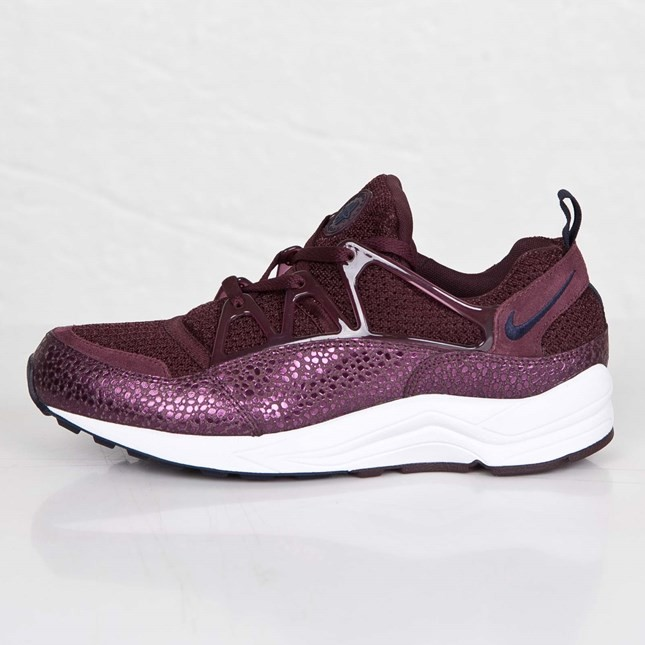 Homme Nike Air Huarache Light Safari Sneakers Bordeaux Foncé/Obsidienne/Blanc 306127-641