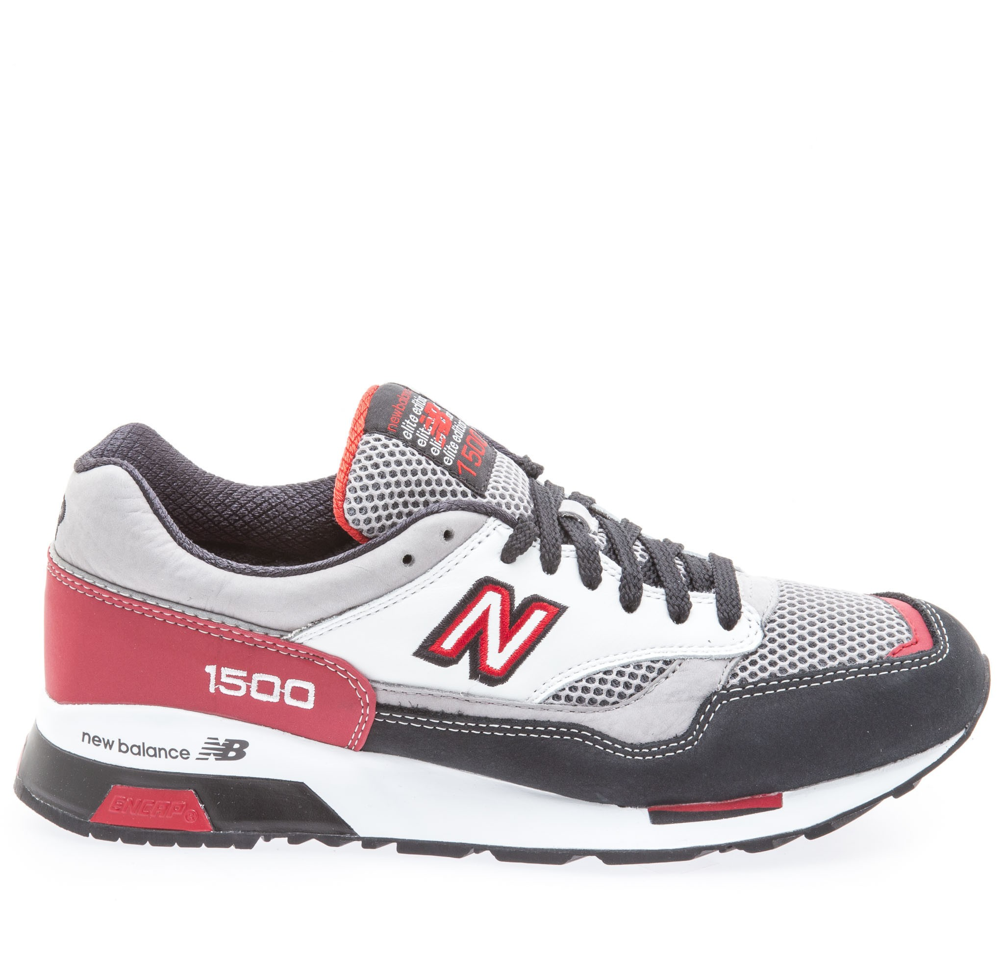 New Balance 1500 Elite Rider's Club Femme Trainers Anthracite Gris Rouge