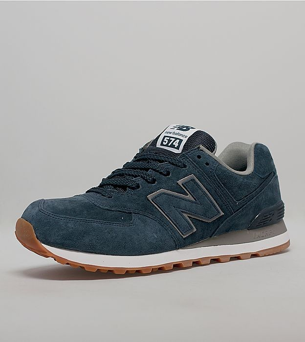 New Balance 574 Mono Daim Chaussures Running Pour Homme Marine/Gomme
