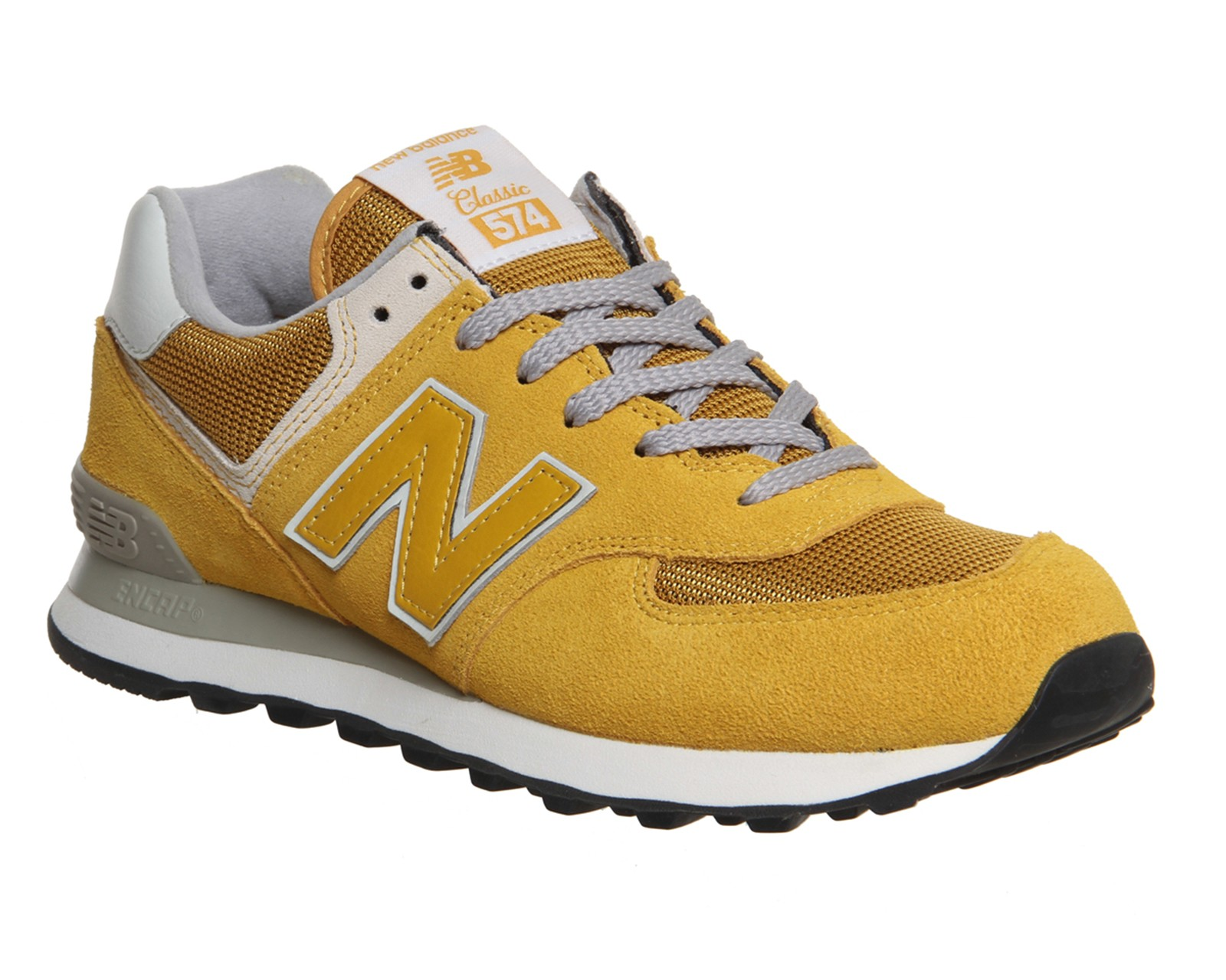 New Balance M574 Daim/Mesh Homme Chaussures Moutarde/Jaune