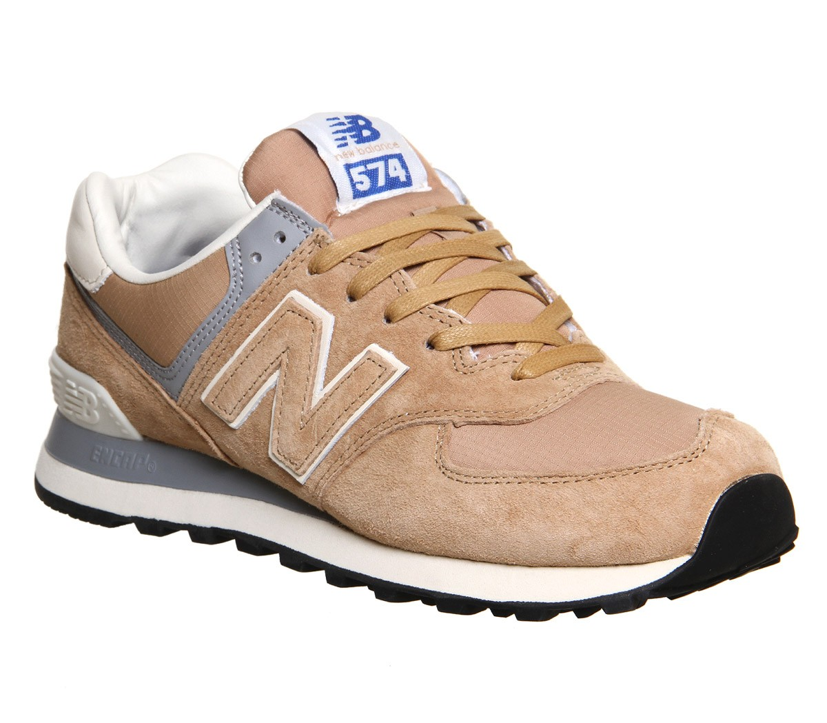New Balance M574 Daim/Textile Chaussures Running Pour Femme Champagne Beige