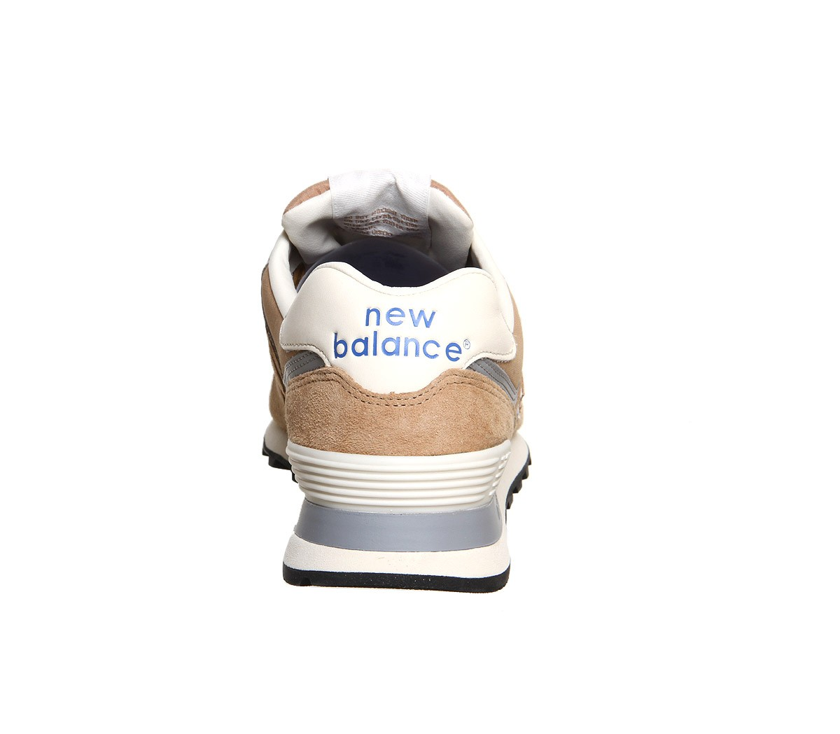 Homme New Balance M574 Daim/Textile Trainers Champagne Beige