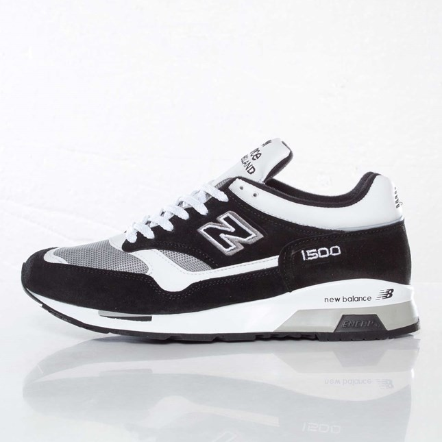 New Balance M1500 Made in England Homme Chaussures Blanche Gris Noir M1500KWG
