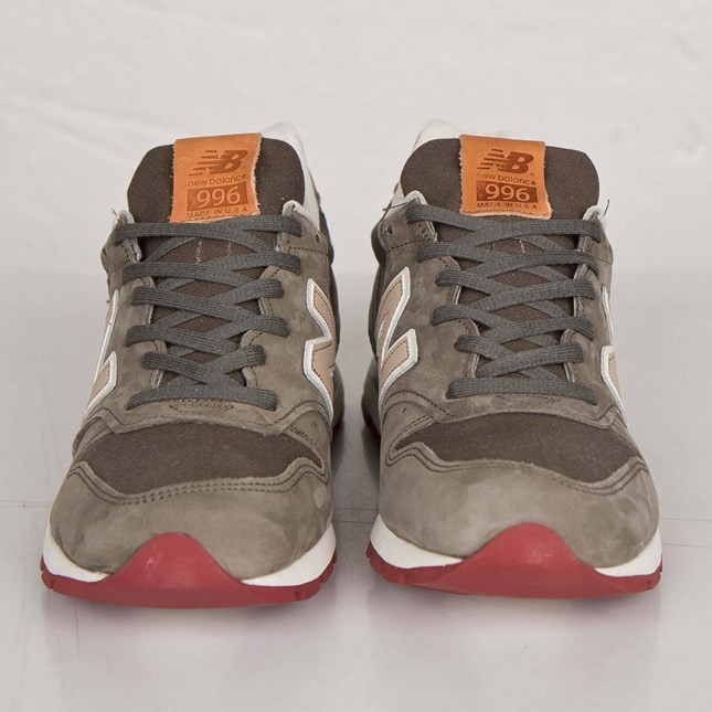 Homme New Balance 996 Made in USA Chaussures Vert Olive M996DOL