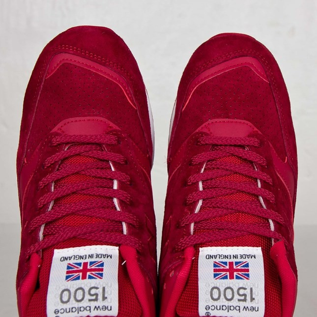 New Balance 1500 Made In England Souliers De Course Pour Homme Rouge M1500FR