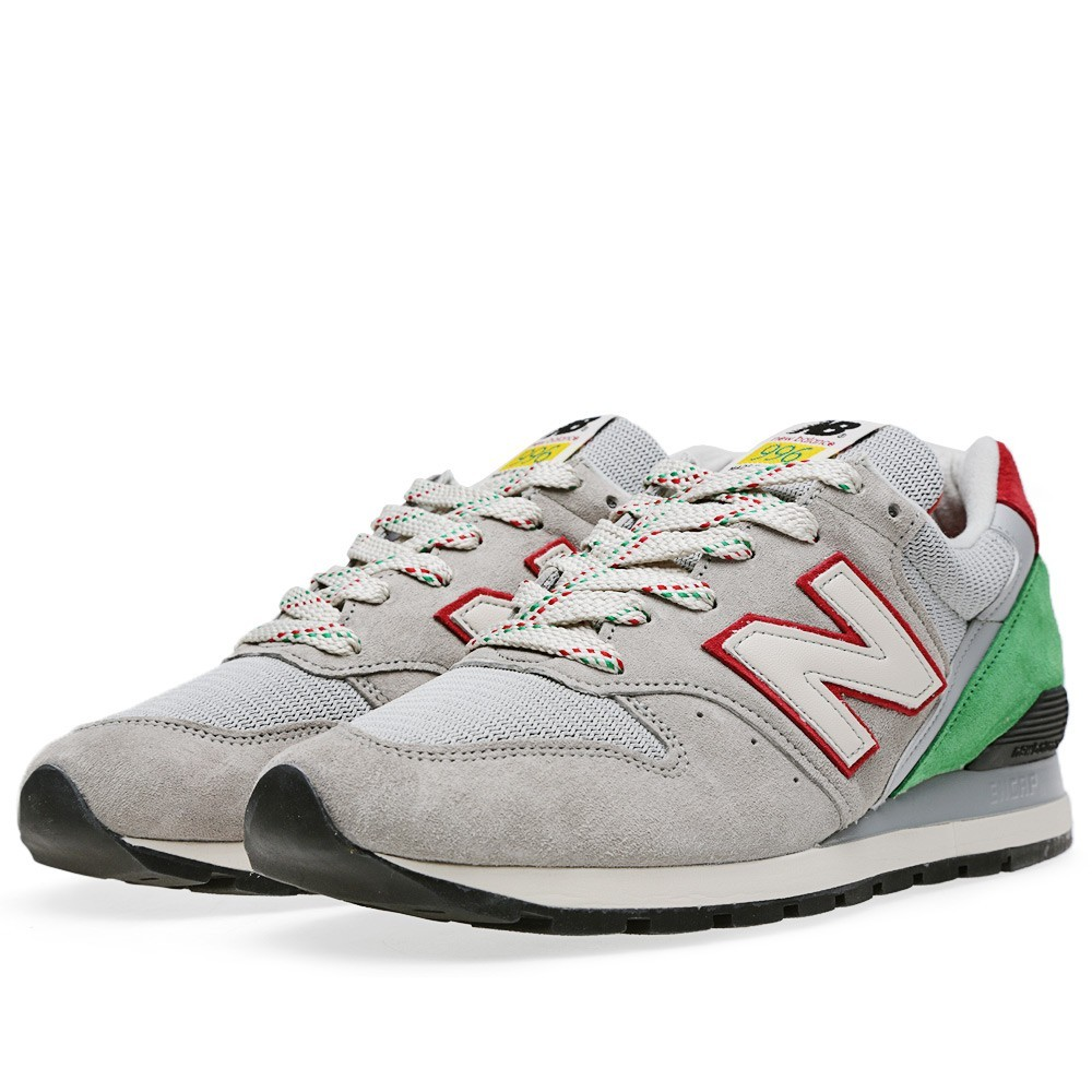 New Balance 996 National Parks - Made In The USA Homme Chaussures De Sport Gris/Vert/Rouge/Noir M996PG