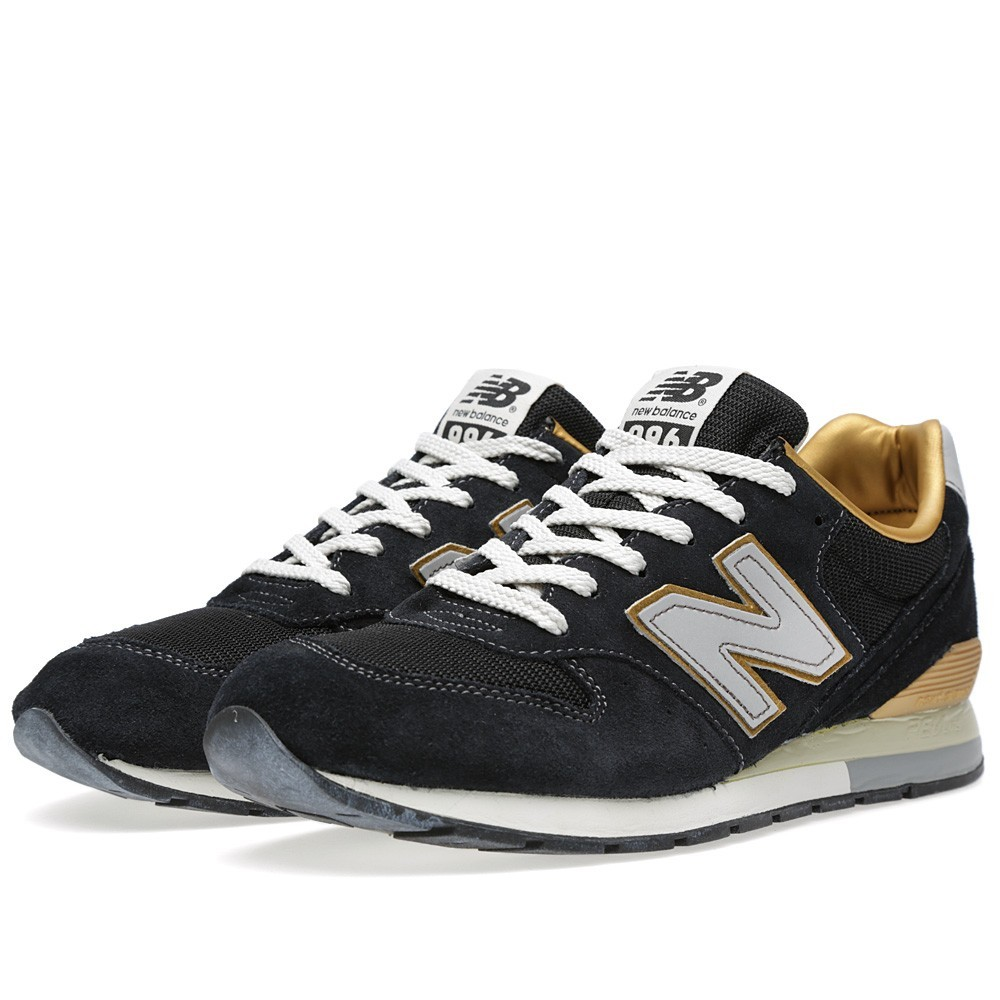 Homme New Balance 996 Chaussures Noir/Argent/Or/Blanche/Gris MRL996BK