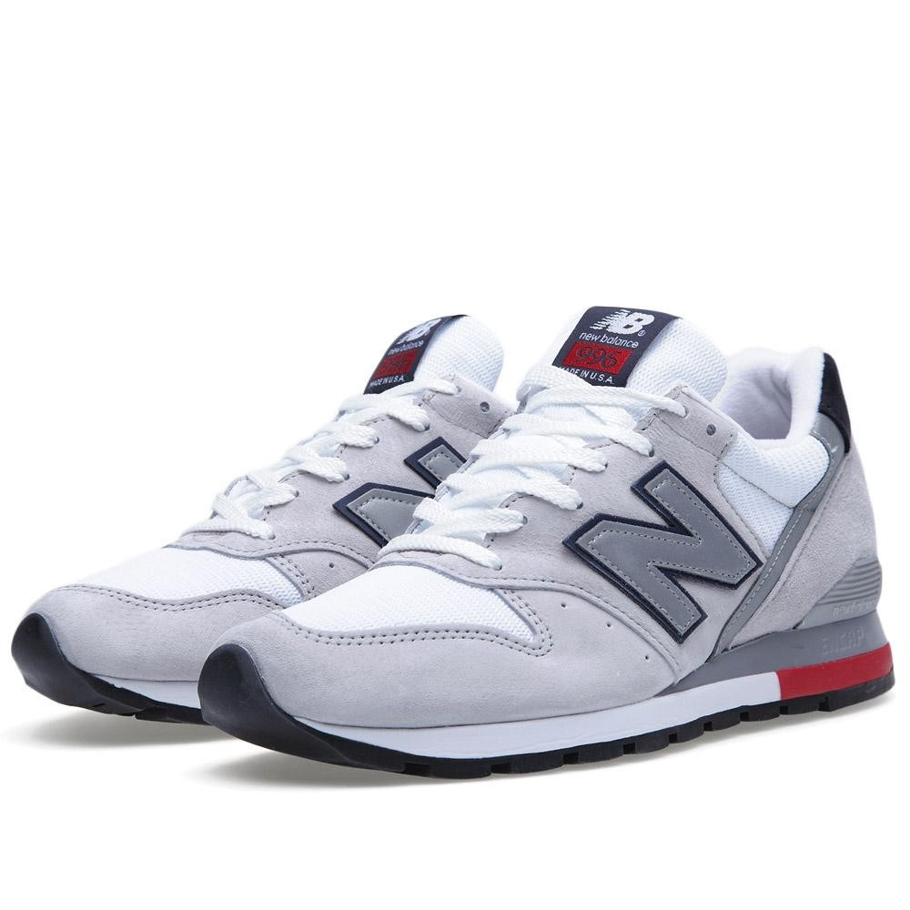 New Balance 996 Hommes Sneakers Gris/Rouge Clair M996RRG
