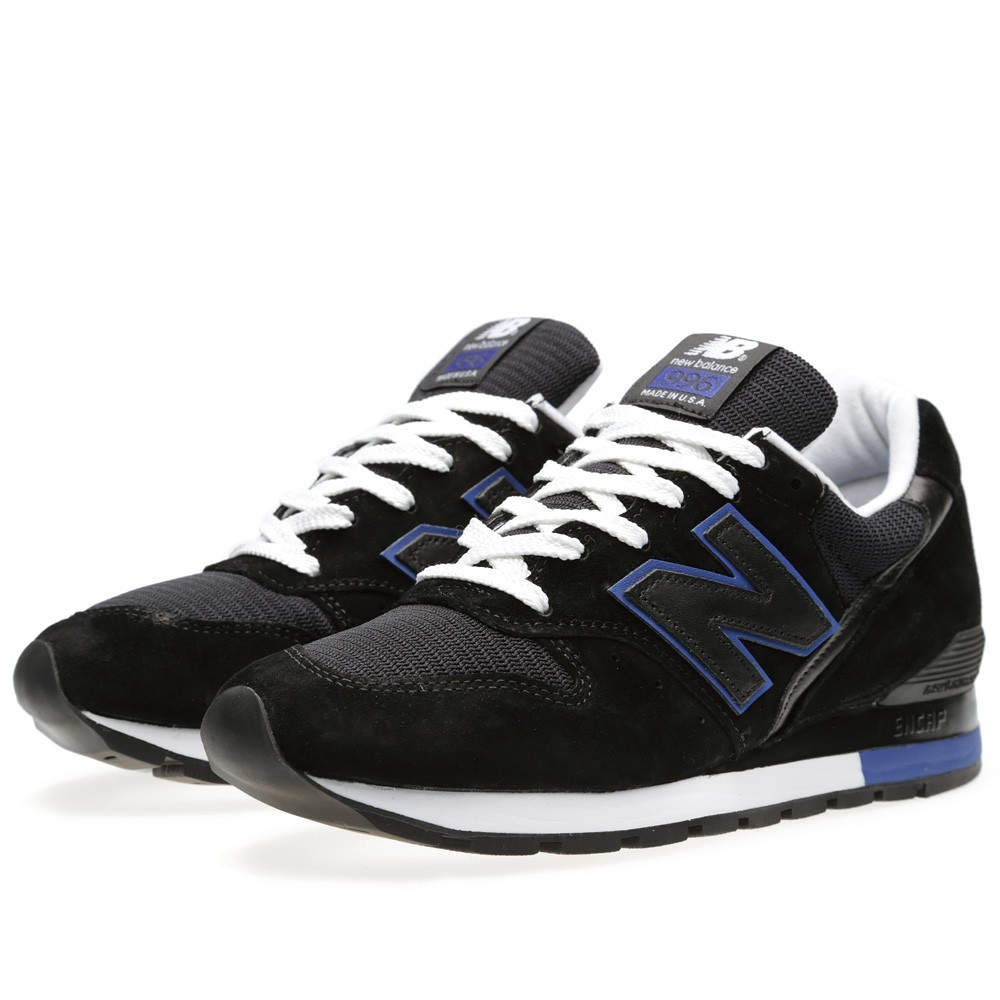 New Balance 996 Made In The USA Homme Chaussures Noir/Bleu M996BA