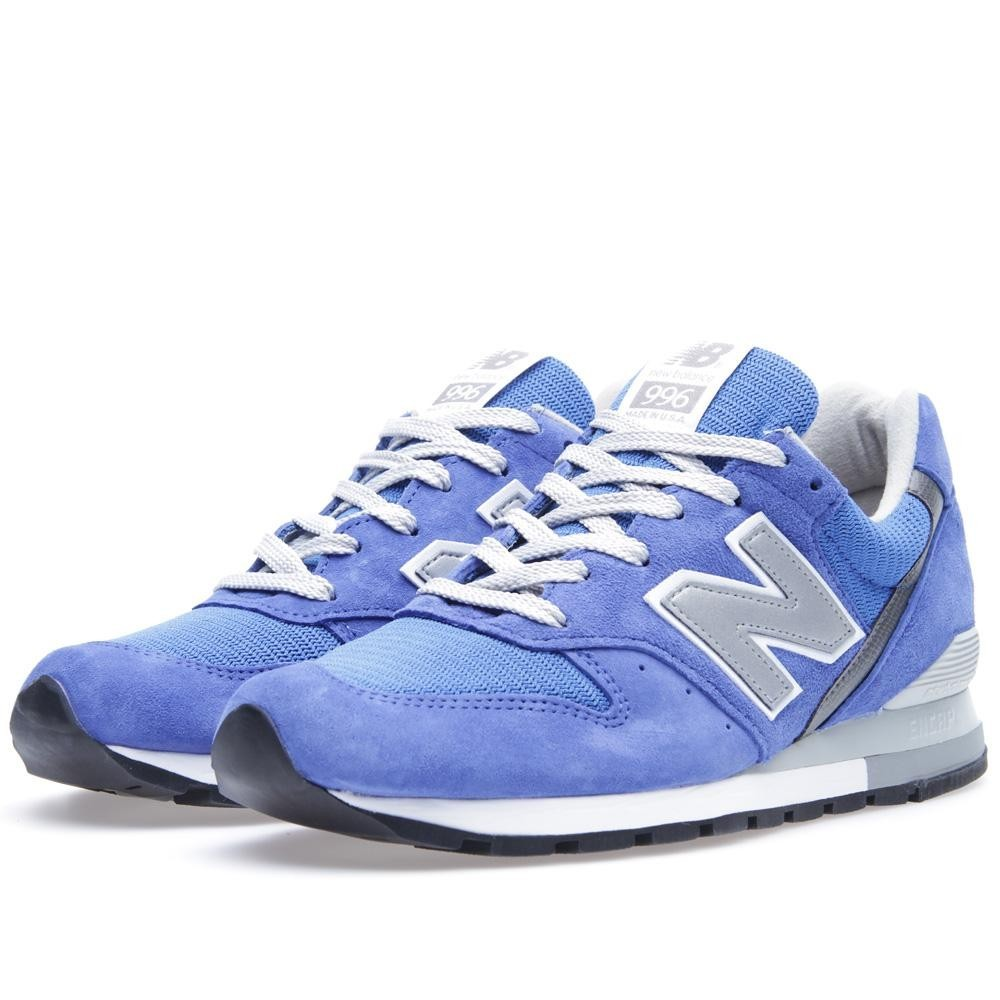 New Balance 996 Made In The USA Sneakers Pour Homme Gris Bleu Royal M996RYL